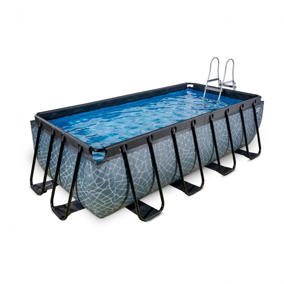 exit pool stone 400x200cm mit sandfilterpumpe grau bei outdoor toys ch kaufen. Black Bedroom Furniture Sets. Home Design Ideas