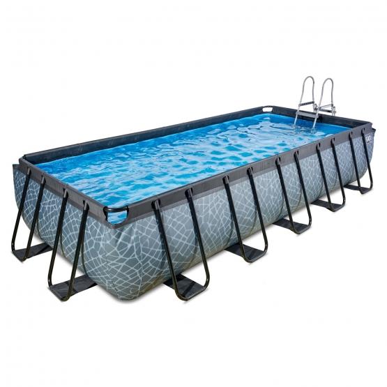 exit pool stone 540x250cm mit sandfilterpumpe grau bei outdoor toys ch kaufen. Black Bedroom Furniture Sets. Home Design Ideas